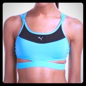 PUMA PWRSHAPE turq blue & black Future sports bra